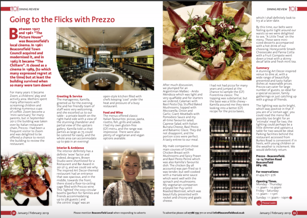 prezzo-dining-review